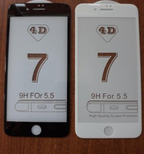Защитное стекло 4D iPhone 7+ БЕСПЛАТНАЯ УСТАНОВКА