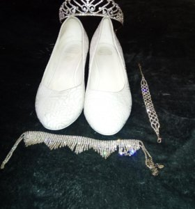 туфли, корона и браслетик