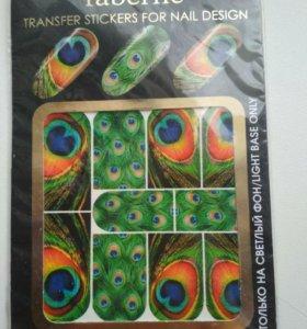 Новые переводные наклейки для ногтей