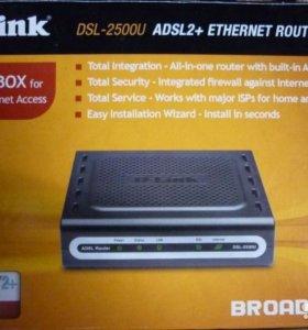 Интернет роутер + adsl2 DSL-2500U D-Link