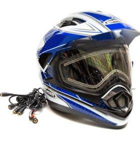 Снегоходный шлем GSB XP-14 A SNOW (С ЭЛ. ВИЗОРОМ)