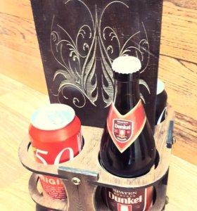 Переноски для бутылок/банок с вашим эскизом.