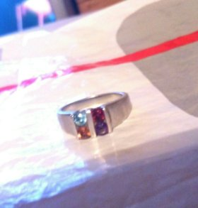 Кольцо серебро с топазами