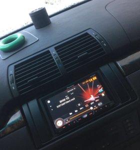 BMW X5 E53(E39) магнитола 2 din