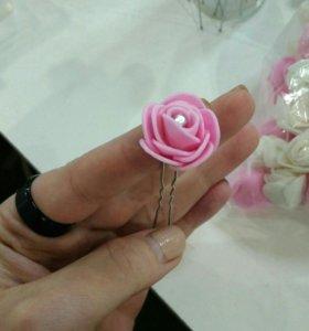 Шпильки декаративные розы