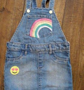 Новый джинсовый сарафан чп