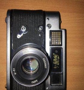 Фотоаппарат Fed 4, с чехлом из натуральной кожи
