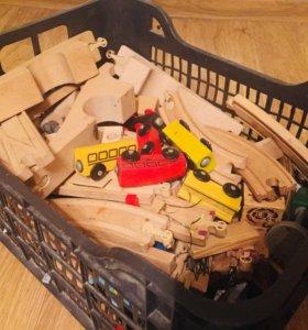 Деревянная железная дорогая Лиллабу IKEA