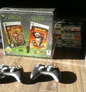 Xbox 360+53 игры+2 геймпада