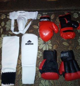 Детские перчатки и защита для борьбы