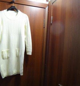 платье вязанное теплое