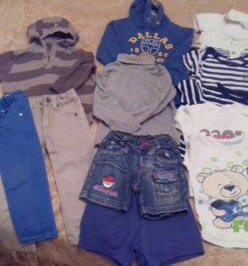 Одежда пакетом на мальчика р 86-92