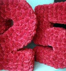 3D объемные цифры буквы на праздник ДР доставка!