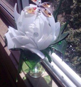 Цветок стеклянный