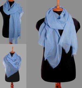 Шелковый женский шарф, ручное окрашивание, шифон