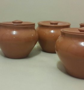 Глиняные горшочки для запекания