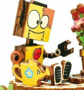 "3D конструктор - муз шкатулка ""Робот с цветком"""