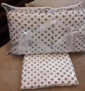 Бортики подушки+кпб