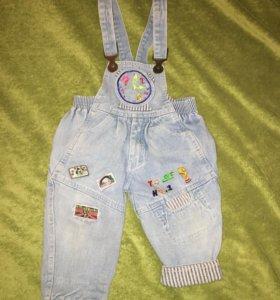 Комбинезоны р 86 -92 джинсовый