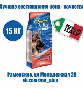 Special Dog дл собак чувствит. пищ. ягнен/рис 15кг
