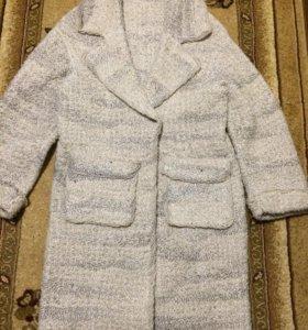 Вязаное пальто ручная работа