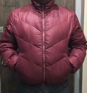 Куртка зимняя мужская бордо