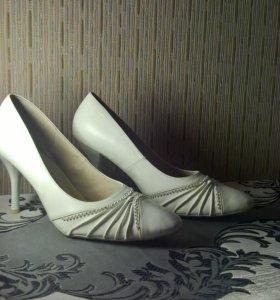 новые Свадебные туфли белые