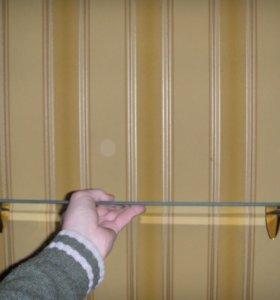 Полки стеклянные, длина 70 и 110 см.
