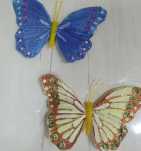 Бабочка магнит + проволока