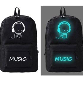 Рюкзак со светящимся принтом Music walkman