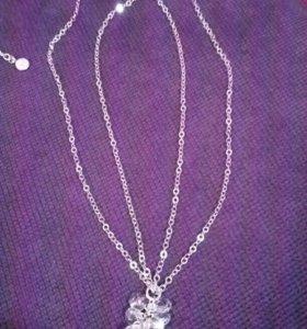 Серебряные украшения. 2 шт.