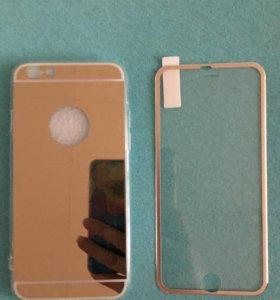 Продам закаленное стекло и чехол на iPhone 6,6s