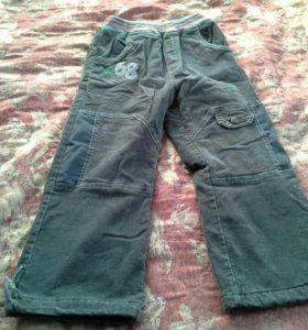 Утепленные велюровые штаны р.116