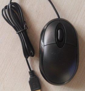 Мини Проводная Оптическая Мышь (3 кнопки) 800 dpi