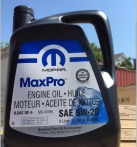 На Крайслер масло 5 л. MOPAR MAXPRO SAE 5W-20