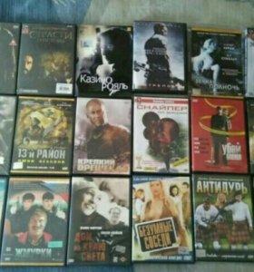 DVD диски с фильмами, 18 шт.