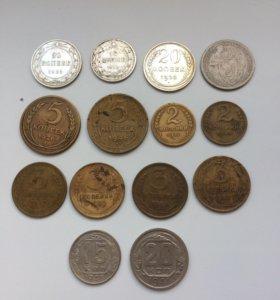 Монеты РСФСР-СССР (1923-1957гг).
