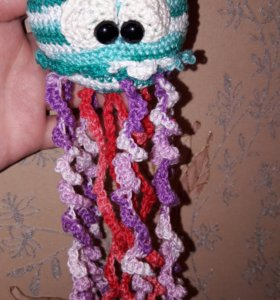 Медузка-погремушка для малышей