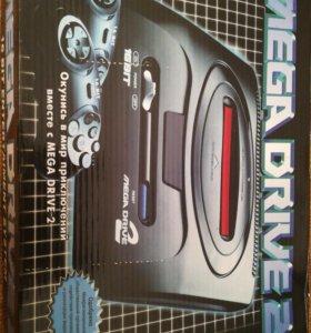 Mega drive2 +кассеты с 50 играми