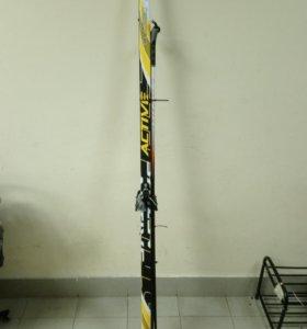 Лыжи кр 75 мм длина 195 см палки в комплекте
