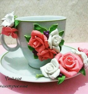 Чайная пара с декором