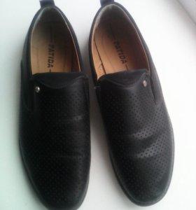 Туфли р.45 черно синие