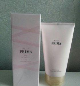 Парфюмерная вода 50 ml + лосьон Avon Prima