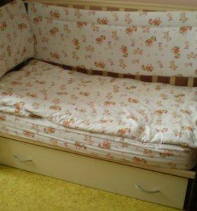 кровать - маятник с ящиком