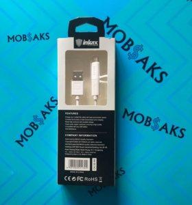 USB кабель inkax 2 в 1 Micro / iPhone 5, 6, 7