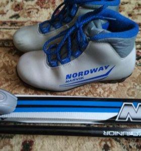 Лыжи в комплекте с ботинками