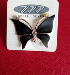 Брошь-бабочка, стрекоза, веточка