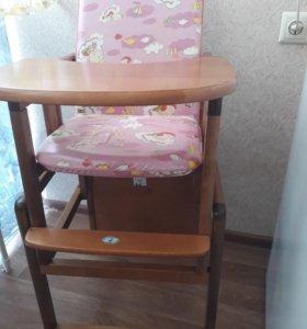 Стул и стол трансформер деревянный