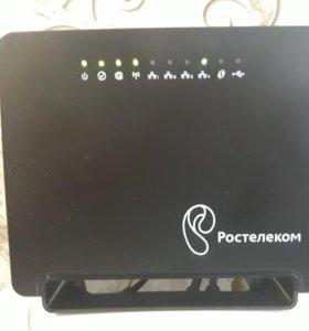 Роутер WI-FI,TV приставка и пульт.