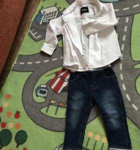 Продам рубашку Gulliver и джинсы (Япония)
